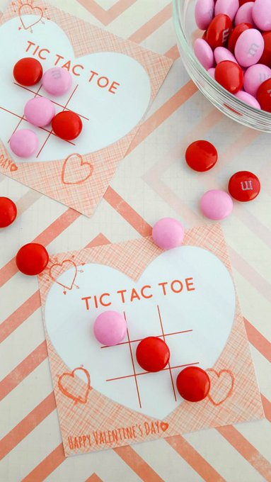 Free Tic Tac Toe Valentine Printable  freebie valentinesday vday cute