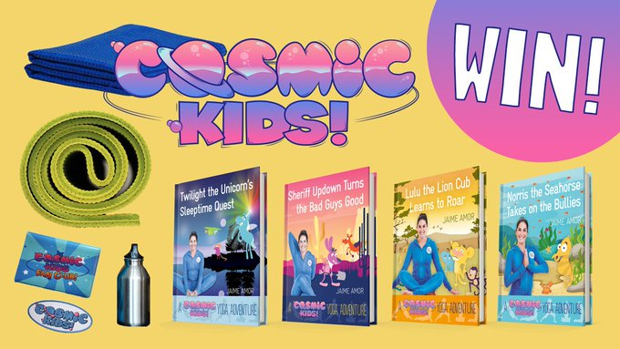 It's FreebieFriday enter to win Cosmic Kids books and yoga prizes! WatkinsWisdom