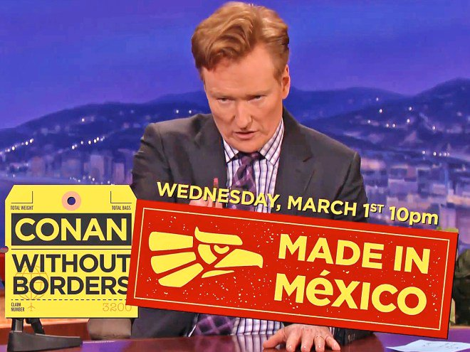 Conan O'Brien announces upcoming Mexico special 'Conan Without Borders.'
