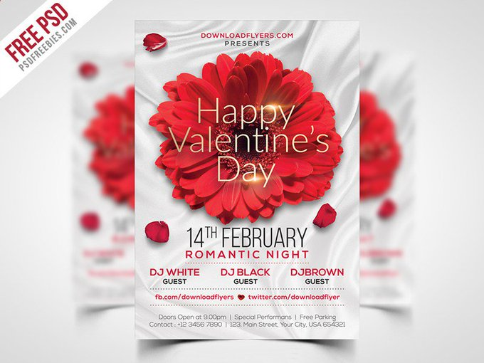 Valentines Day Flyer Template Free PSD flyer free freebie freebies images