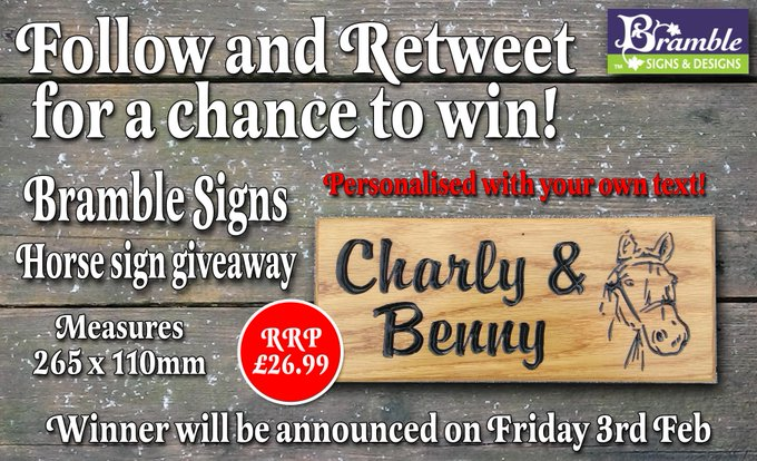 FreebieFriday Competition Giveaway RT+F to win an oak engraved sign