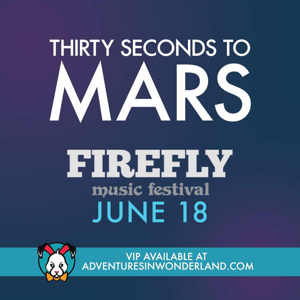 .@30SECONDSTOMARS IS COMING to @LiveAtFirefly!! / VIP on sale today, 10AM PT: https://t.co/HBYgqXmOb7 #MarsIsComing https://t.co/OYZDB1f3qQ