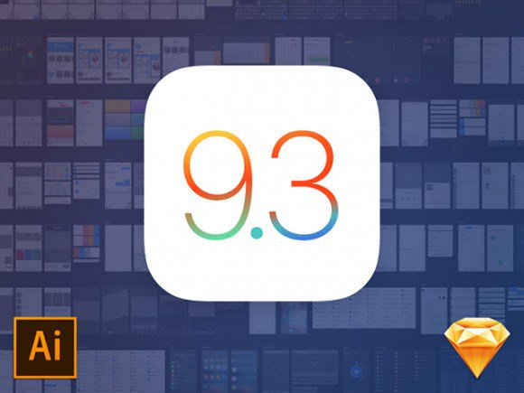 iOS 9.3 UI kit for Illustrator and Sketch free freebie freebies illustrator ios