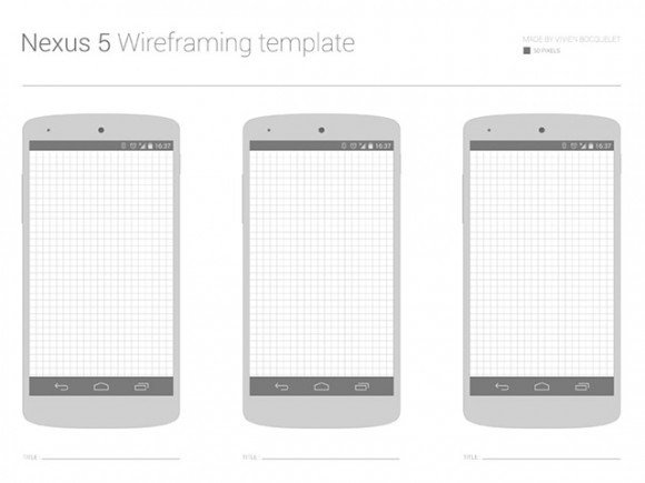 Nexus 5 wireframe template free freebie freebies WIREFRAMES