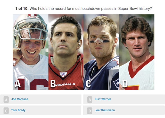 Think you know everything there is to know about the Super Bowl? Take our interactive quiz. https://t.co/T0LnzHZsDc