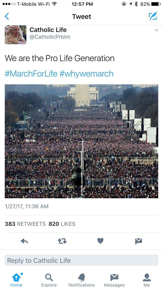 RT @davidmackau: This viral #MarchForLife tweet actually shows Obama's 2009 inauguration crowd https://t.co/IGiInmxhtd