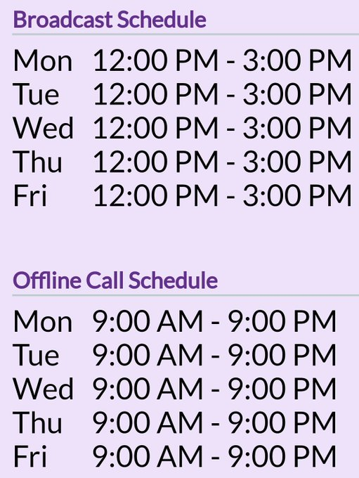 1 pic. My BROADCAST & CALL Schedule has been UPDATED at https://t.co/a4uSH4xRI8! • Surprise evenings