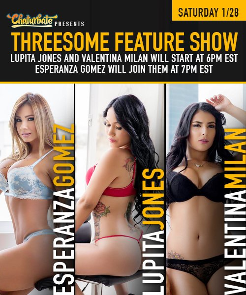 LOVE THREESOME RIGHT NOW!#chaturbate #threesome #live #camshttps://t.co/rOHE2EEC0E@chaturbate https://t