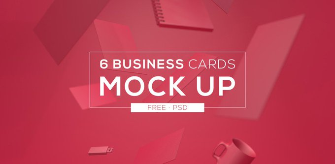 Free Download: 6 Business Cards Mock Up business card free freebie freebies mockup