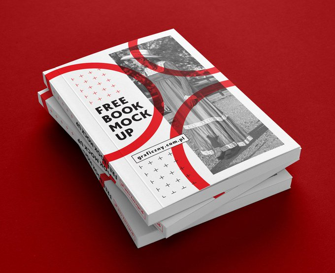 Book, brochure mock-up book brochure free freebie freebies mockup