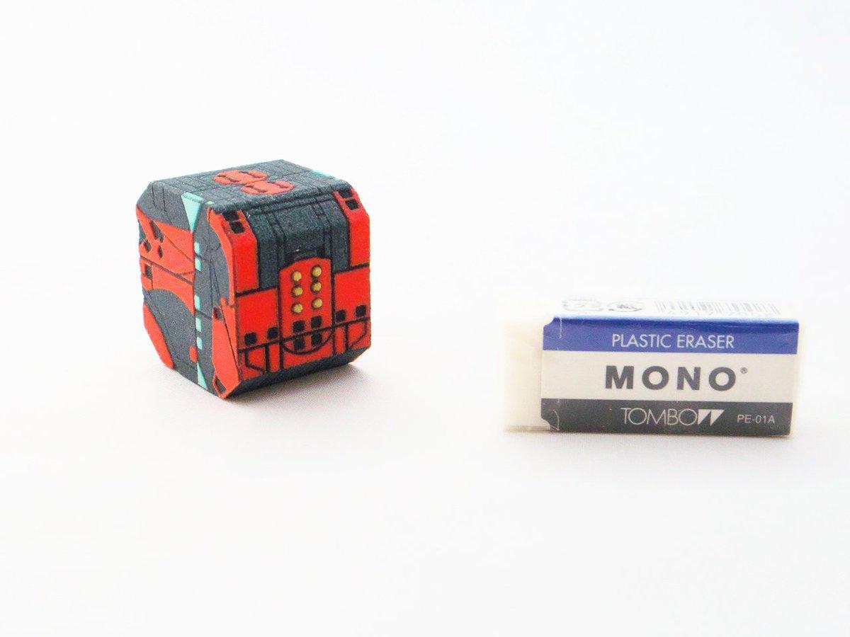 マーブル商館のワンフェス新作「クロムクロのキューブ」、大きさの参考になる画像貼っておきます。完成品なので、買ってそのまま