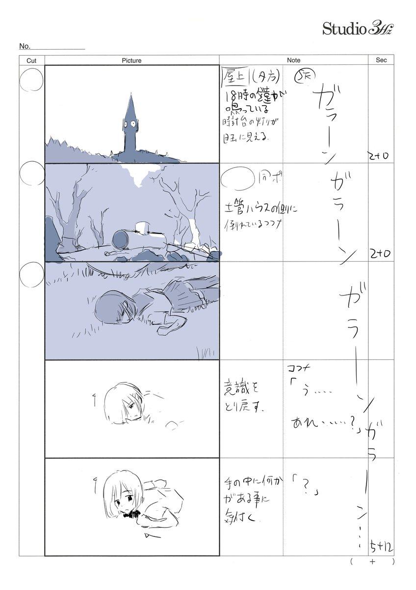 BパートラストとCパートは鶴窪久子さんの原画。真面目で丁寧な作画は安定感がありました。2話では作画監督もして下さってます