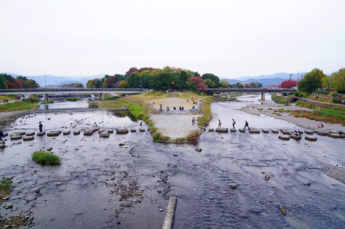 この賀茂大橋がある鴨川デルタ周辺、四畳半神話大系の自虐的代理代理戦争の他にも、たまこラブストーリー、けいおん!1期OP、