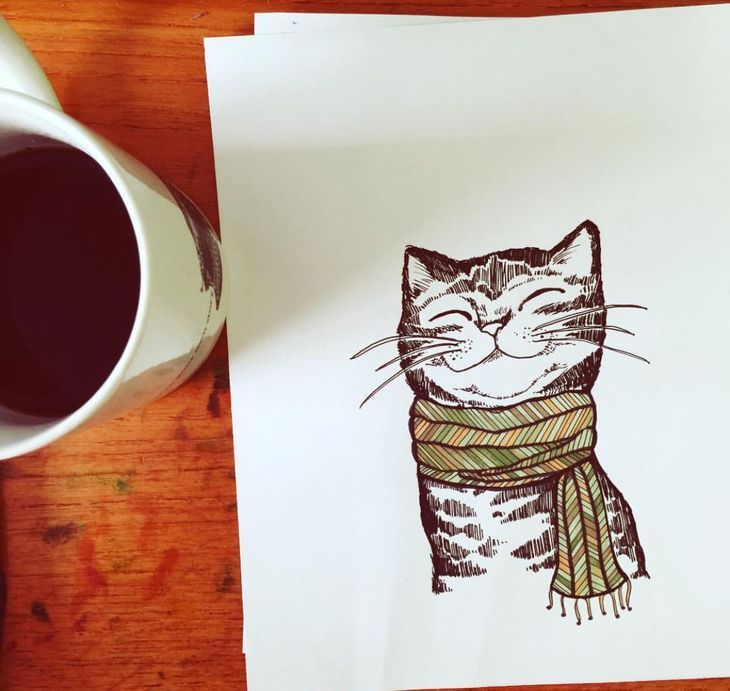 RT @hitRECord: Cats and coffee, coffee and cats... https://t.co/24TwXKvzGy https://t.co/ah222C1NLE