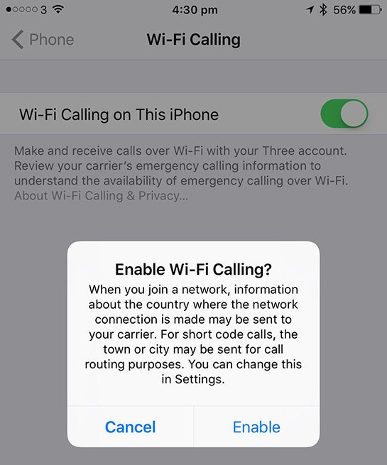 Three UK Now Supports Native Wi-Fi Calling on iPhone