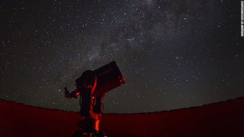 Stargazing safari under the dark skies of the Namibian desert