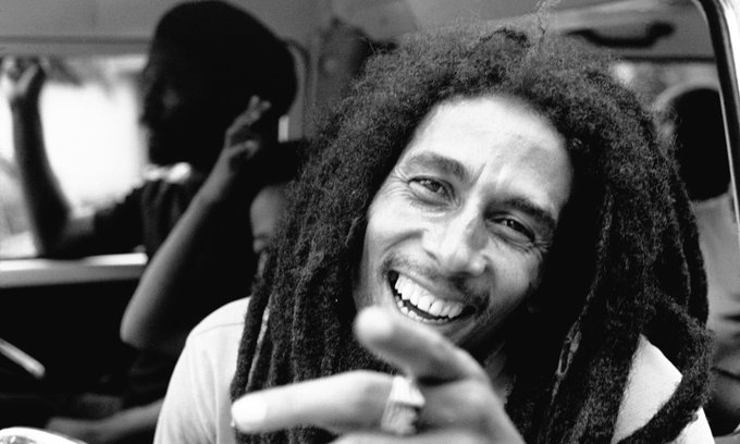 "Happy Birthday to my Uncle Nesta. Bob Marley.  ""None but ourselves can free our minds\"""