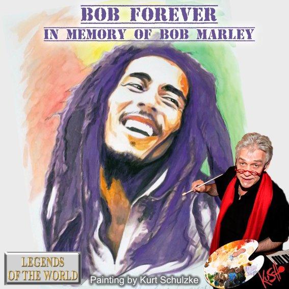 Erinnerung an Bob Marley & Happy Birthday! Aquarell 30x40 cm. Preis auf Anfrage!