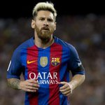 Image of messi from Twitter