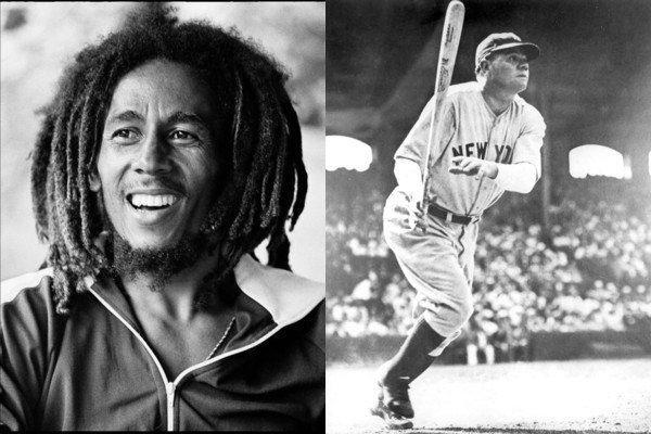 February 6: Happy Birthday Bob Marley and Babe Ruth