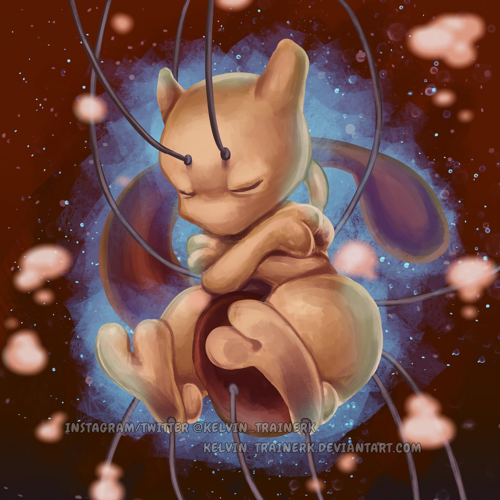 Birth of Mewtwo <3  Happy Birthday Enjoy this drawing! RTs are appreciated