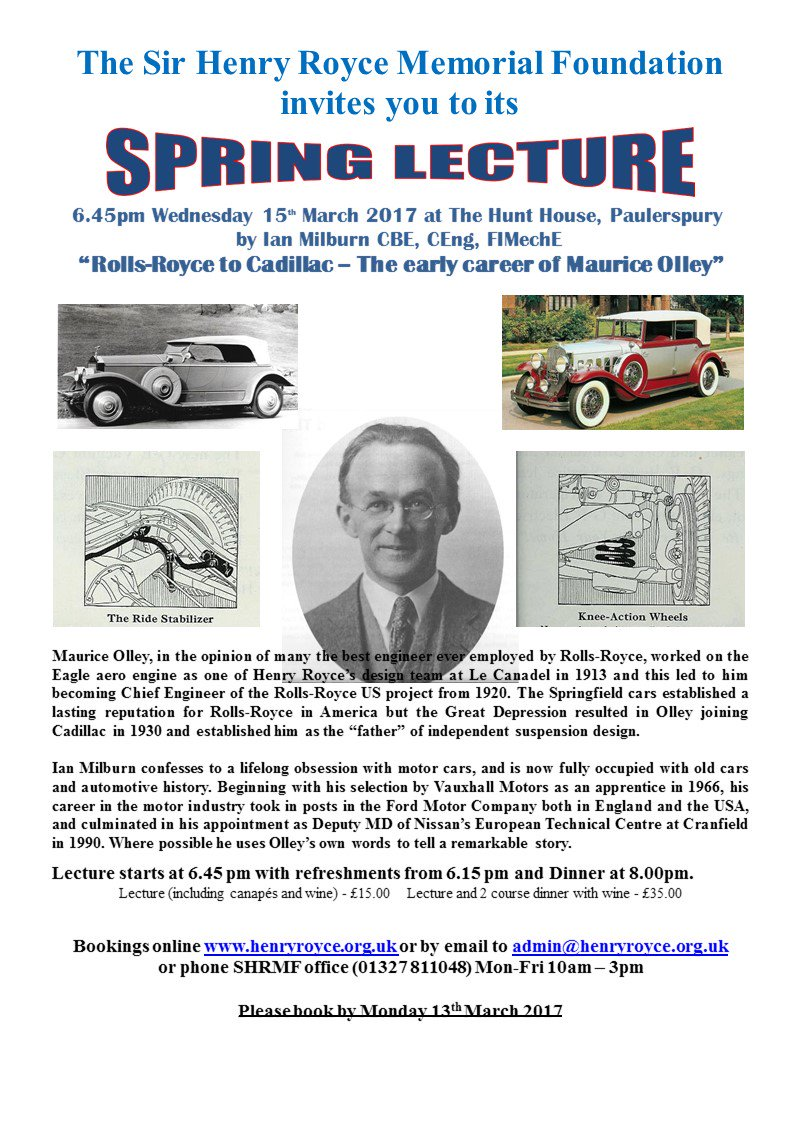 test Twitter Media - Spring Lecture March 15th - The Early Life of Maurice Olley - tickets now on sale: https://t.co/rCCsdHgdAv https://t.co/tcT3pbGXHs