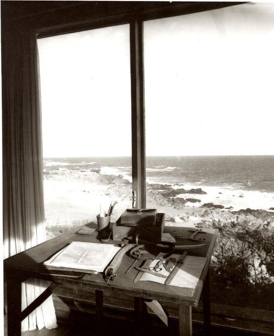 Estas eran las vistas desde el escritorio de pablo neruda - Escritorio para escribir ...