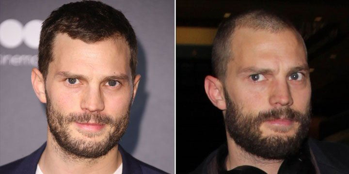 Jamie Dornan just shaved his head via @PeopleStyle