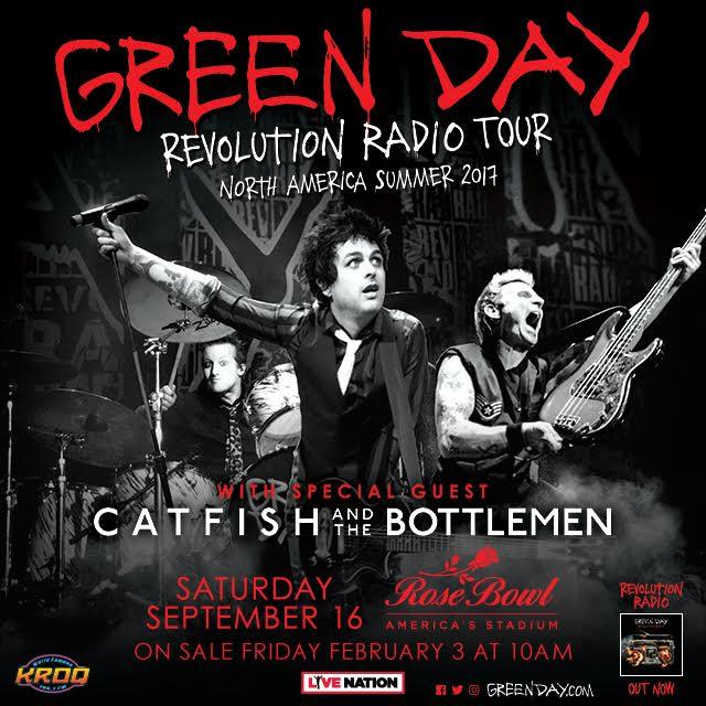 Green Day announce Rose Bowl in Pasadena, CA - Saturday, September 16th. https://t.co/J63xEFiarj https://t.co/HDSRcMlEvX