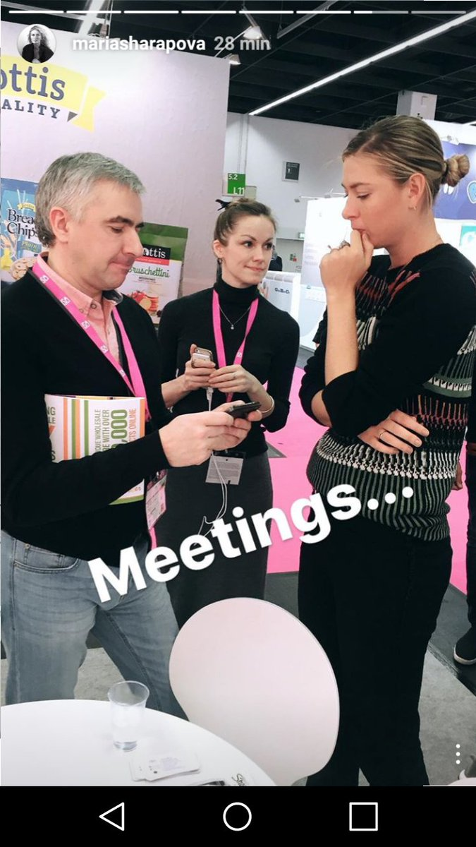 RT @dorota_biskup: @MariaSharapova during the ISM Sweets and Snacks Fair in Cologne  #Sugarpova ???????????? #meetings https://t.co/18Tz5xXQaX