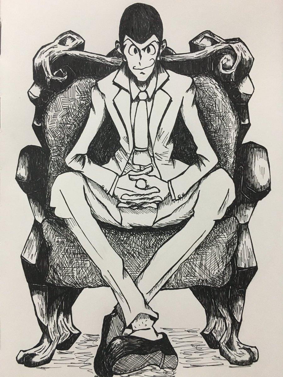 こんな感じのイラスト描いてます!趣味の合う方どうぞよろしくお願いします#ルパン三世 #絵描きさんと繋がりたい
