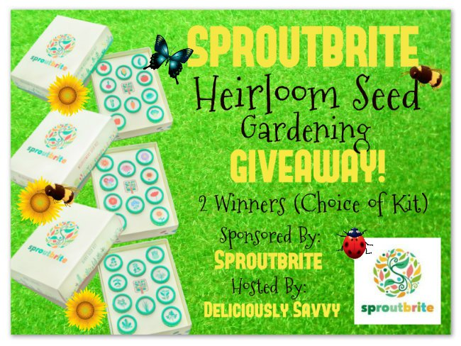 #BloggerOpp: Sproutbrite Heirloom Seed #Giveaway
