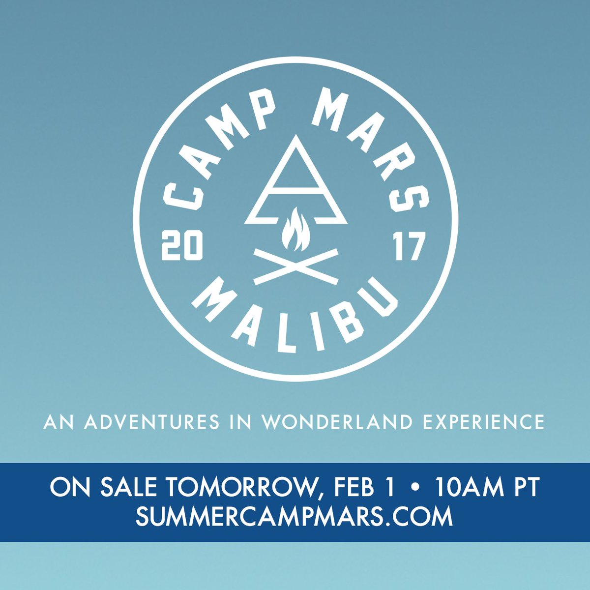 #CampMars Festival On Sale TOMORROW Feb 1st! https://t.co/uhdPT2dSE0 @30SECONDSTOMARS https://t.co/MwQHnrzZID