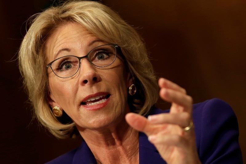Trump's embattled U.S. education secretary pick may face Senate fight