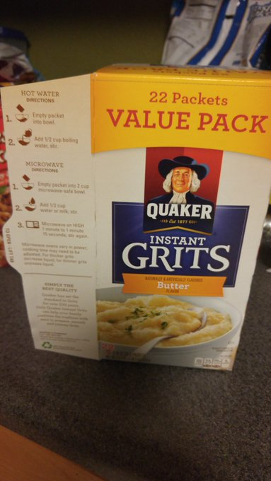 @GoofyPo Easiest to go with this. Cook shrimp in a pan & mix in to 2 packs of grits after microwaving