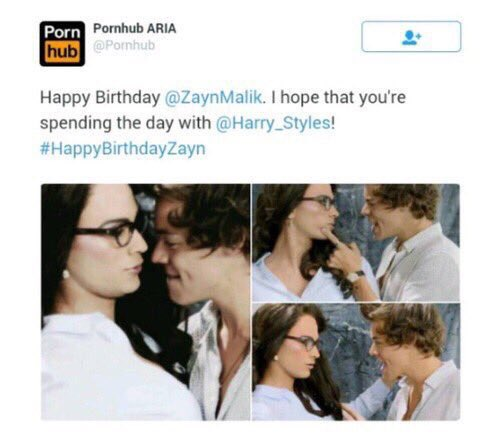 He\ll make one with Zayn Malik don\t worry i\ll record & send it to you. HAPPY BDAY HARRY