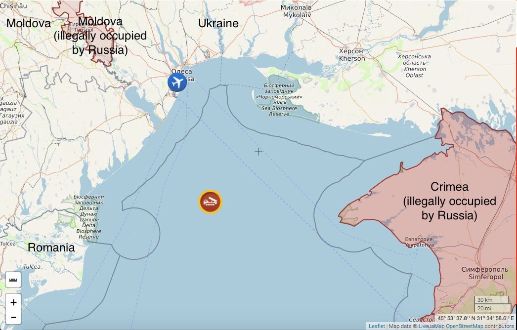 Map: claimed location where a ukrainian an-26 aircraft was shot at ...
