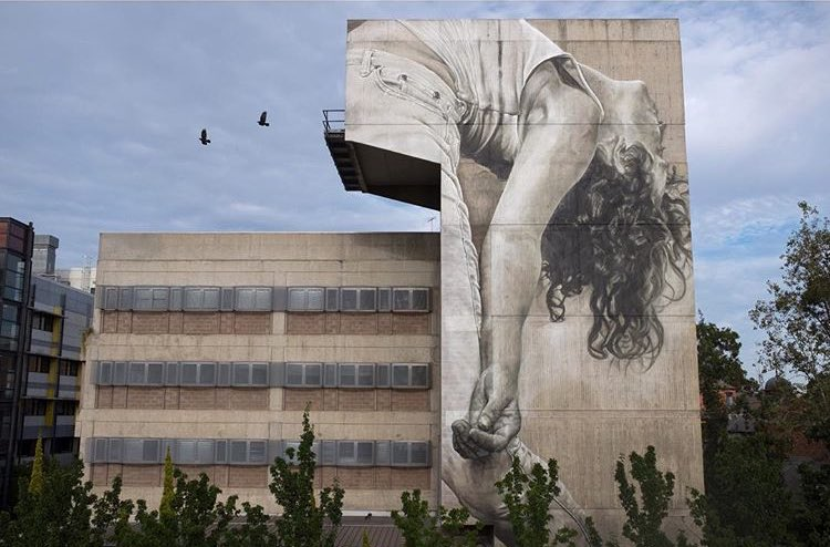 New Street Art by Guido Van Helten found in Melbourne   #art #arte #mural