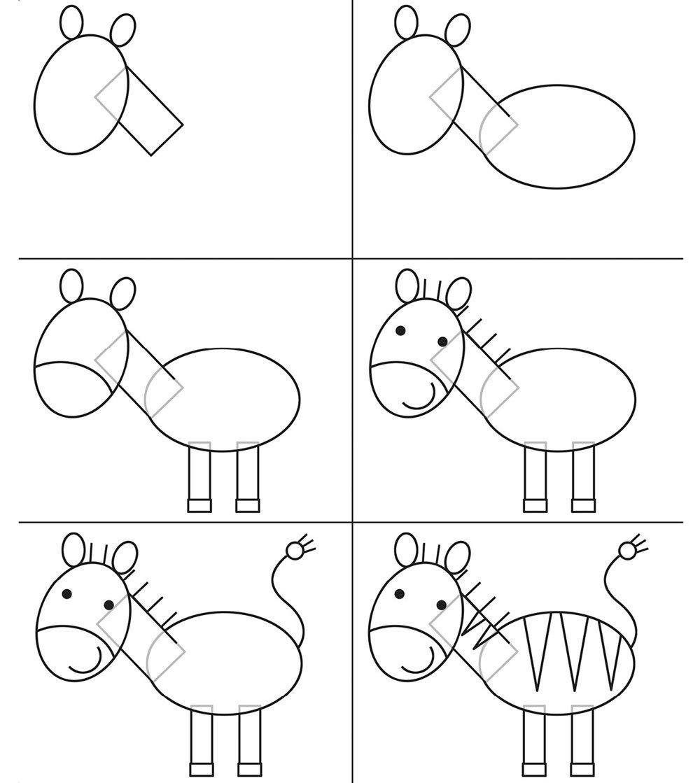 Схемы рисунков для ребенка поэтапно