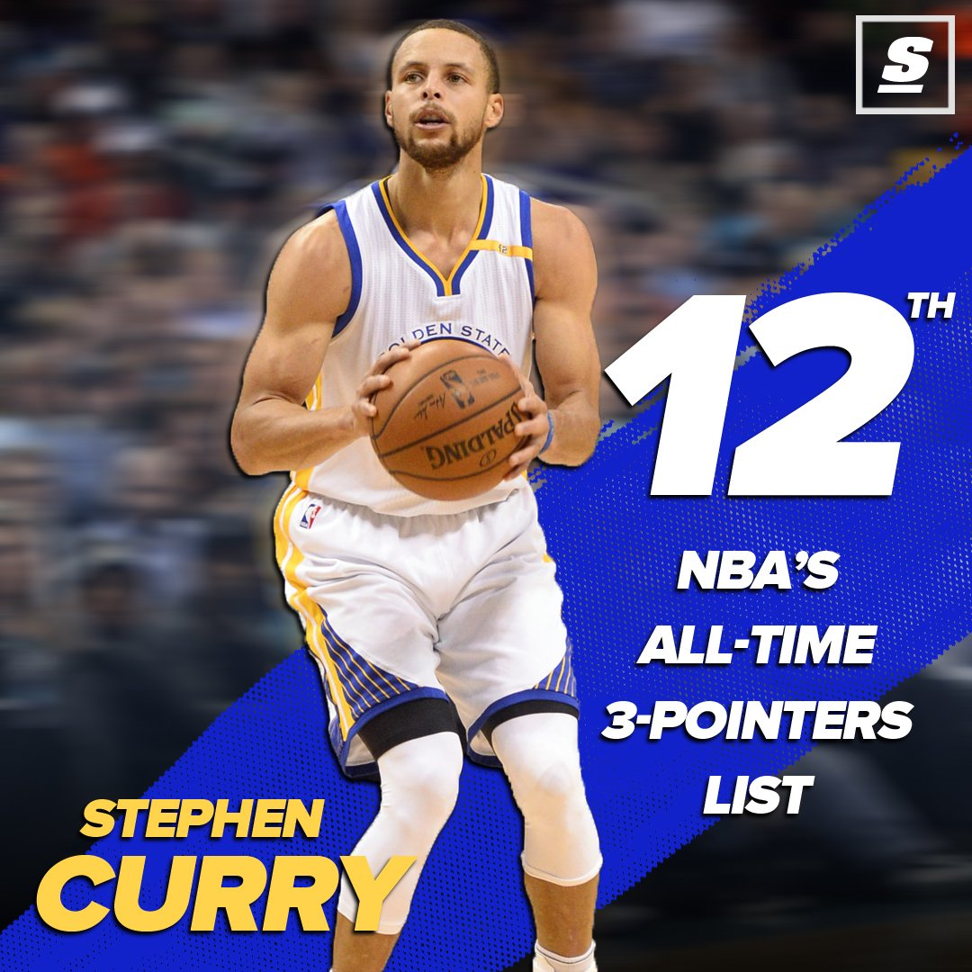 Steph curry passes rashard lewis for 12th on nba s all time 3