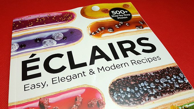 Giveaway – Eclairs Cookbook by Christophe Adam – Ends 2/23/17
