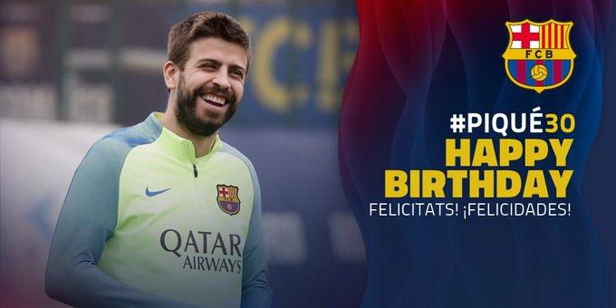 Happy Birthday // Felicitats Gerard Piqué! // ¡Felicidades Gerard Piqué!