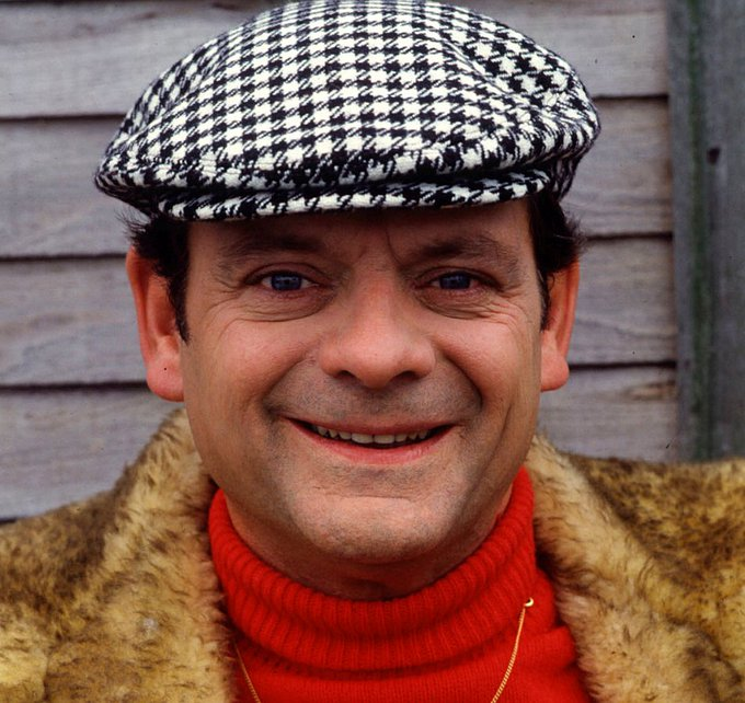 "Happy Birthday to this acting legend, Sir David John White (David Jason). 77 years old today. ""You Plonkers!\"""