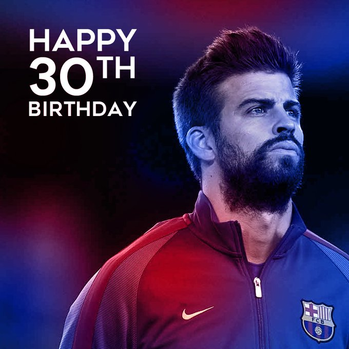 Happy 30th Birthday to one of the world\s best centre-backs, Gerard