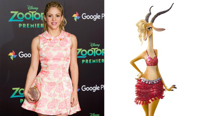 Happy 40th Birthday to Shakira! The voice of Gazelle in Zootopia.