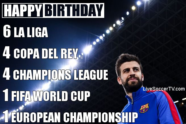 Happy birthday to Barcelona ace Gerard Pique, who turns 3 0 today