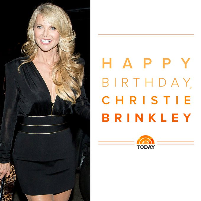 Happy birthday to the beautiful Christie Brinkley!