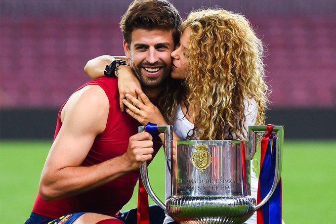 Happy Birthday to Football\s power couple.   Gerard Pique (30) & Shakira (39).