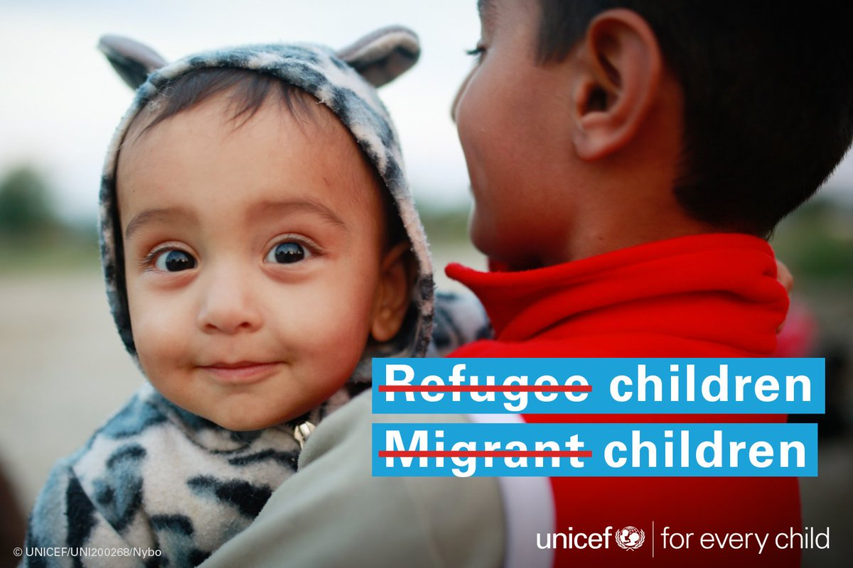 Not migrant children.  Not refugee children. Children are children.  #RefugeesWelcome #foreverychild