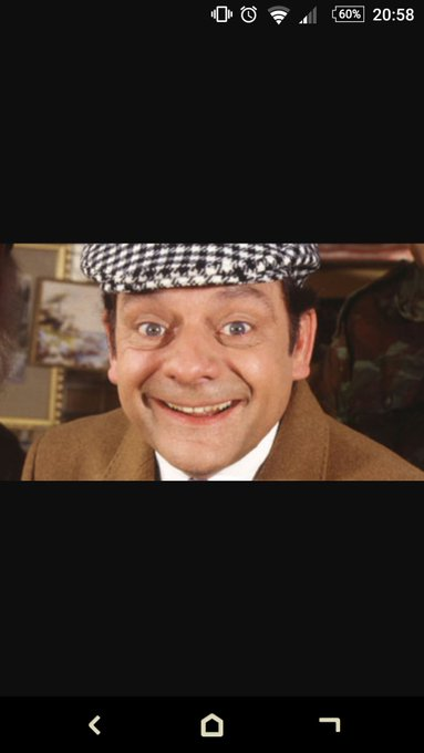 "Happy 77th Birthday to Sir David Jason. ""lovely Jubbly\""  have a \""cushty\"" day \""you plonker\"""